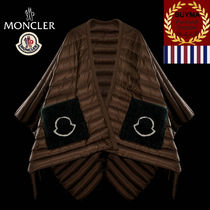 MONCLER CAPES 超軽量 ダウン ポケット付 ケープ ダークブラウン