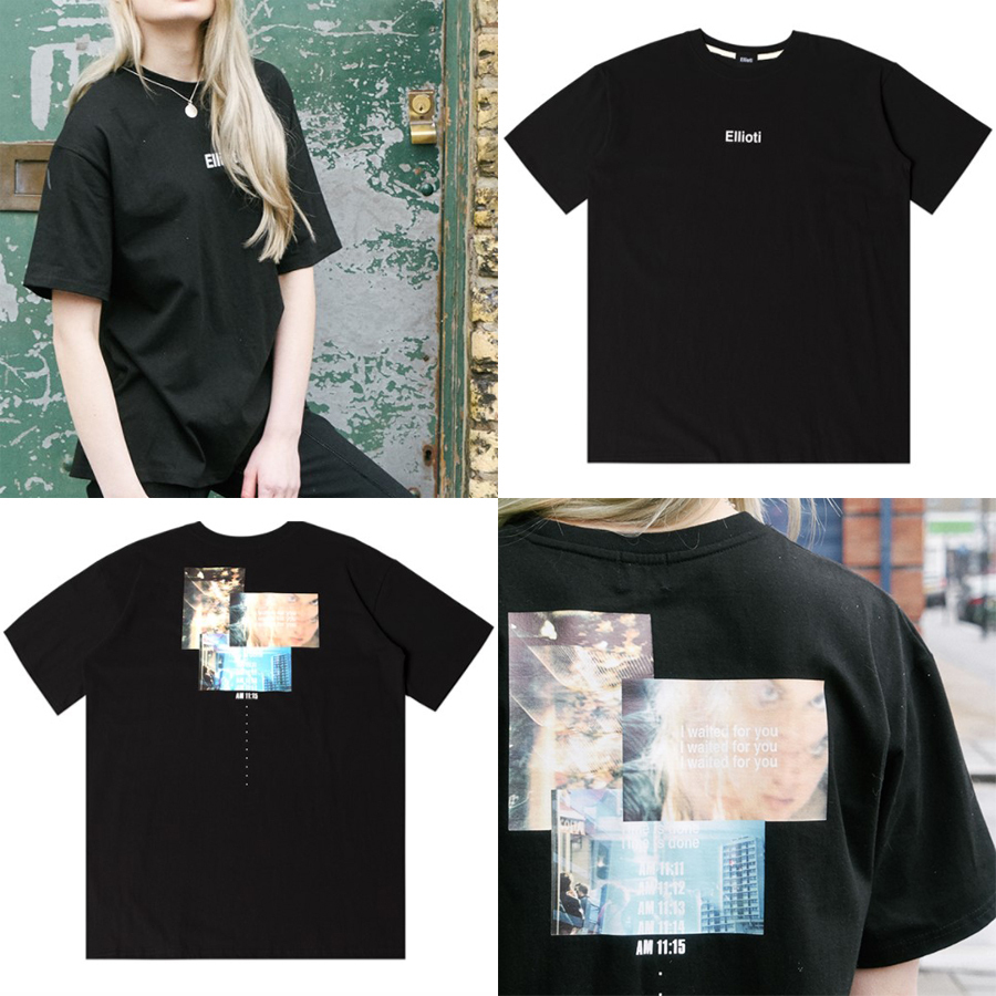 Ellioti Time is done Tee_Black 国内発送★関税込