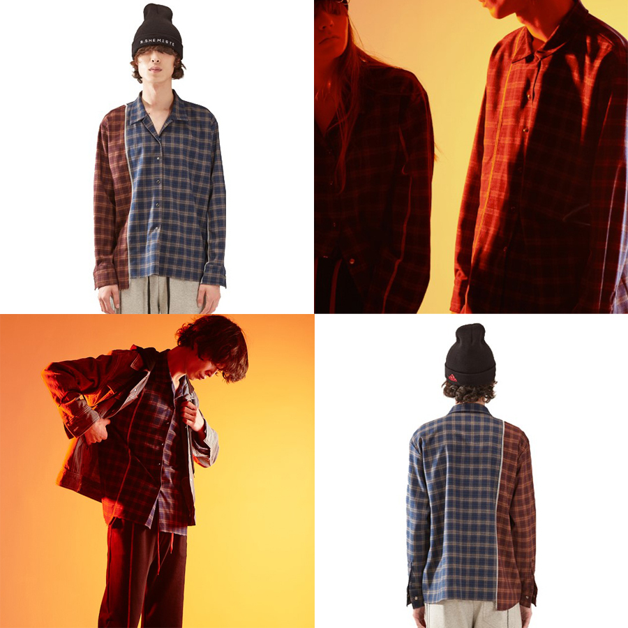check unbal shirt homme-NY 国内発送★関税込