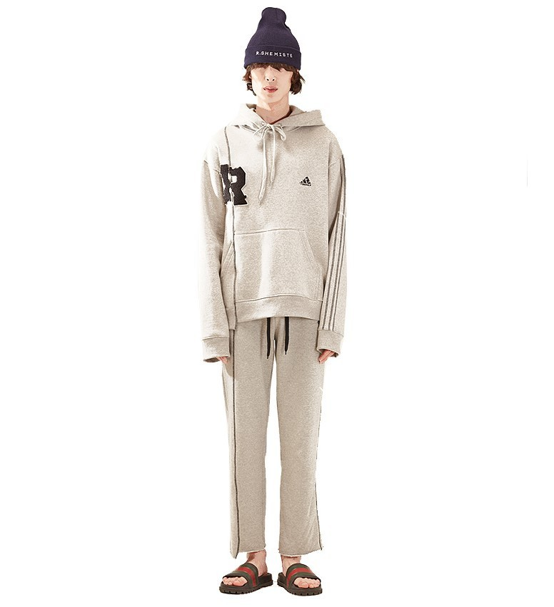 R patch stich hood homme-GY 国内発送★関税込