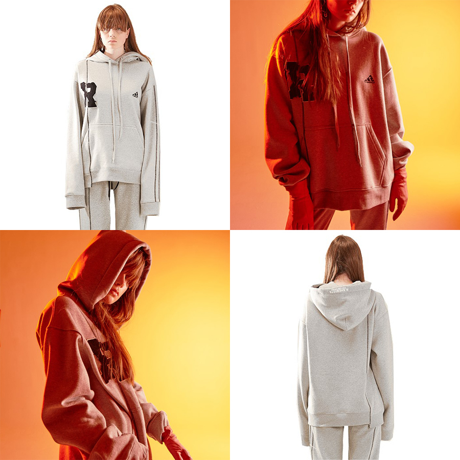 R patch stich hood woman-GY 国内発送★関税込