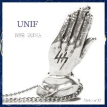 UNIF Clothing(ユニフ) ネックレス・チョーカー 送料込★UNIF★HELTER SKELTER 祈りモチーフ ネックレス*Silver