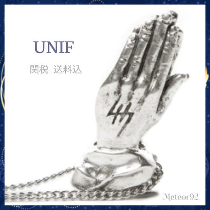 UNIF Clothing ネックレス・チョーカー 送料込★UNIF★HELTER SKELTER 祈りモチーフ ネックレス*Silver
