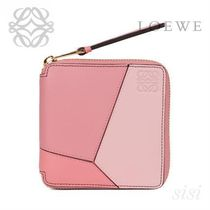 LOEWE★ロエベ Puzzle Small Wallet Soft Pink/Candy/Dark Pink