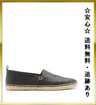"[保証]追跡""Loewe""All-over logo-debossed M スリッポン Black★"
