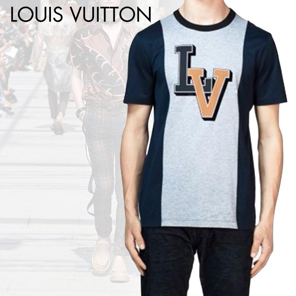 Louis Vuitton ルイヴィトン Tシャツ メンズ 3Dプリントロゴ