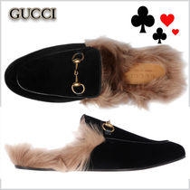 17-18AW★GUCCI★Princetown ベルベット スリッパ