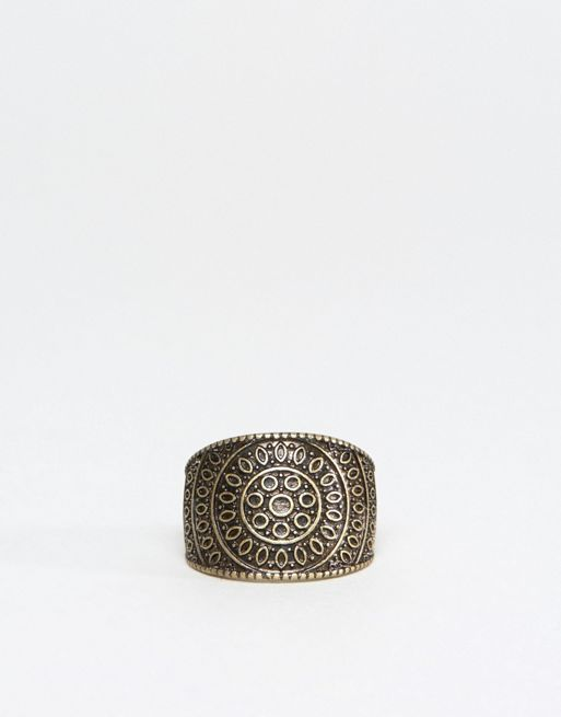 < 送料関税込み >ASOS Ring In Gold With Emboss ASOS  リング