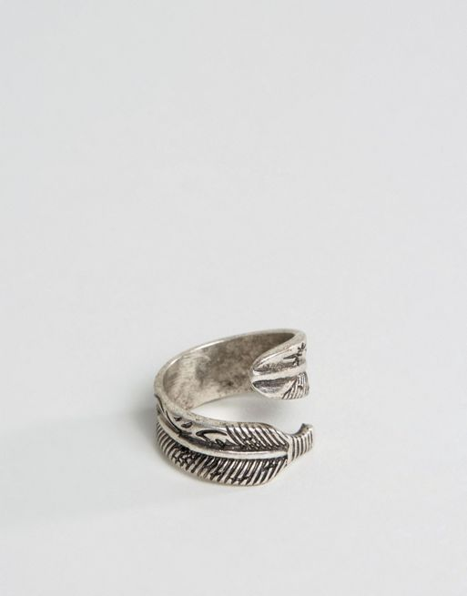 < 送料関税込み >ASOS Ring With Feather Wrap ArASOS  リング