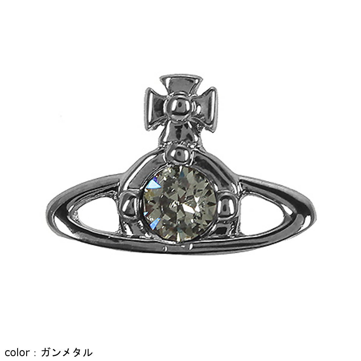 【Vivienne Westwood】NANO SOLITAIRE シングル スタッズ ピアス