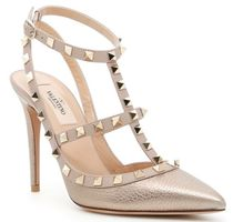 Rockstud Ankle Strap Pumps
