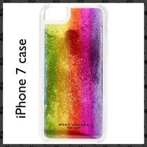 MARC JACOBS / iPhone 7 case / Rainbow glitter clear case