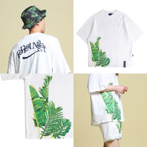 Tropical Wide T shirt_White ユニセックス 国内発