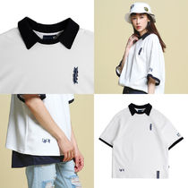 Day off collar T shirts_White ユニセックス 国内発