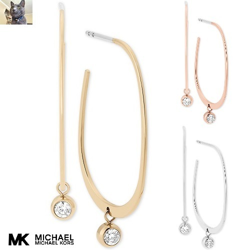 【Michael Kors】Small Crystal スレダーピアス 3色