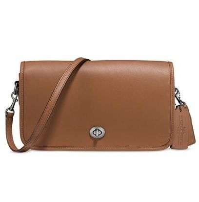 Sale!【Coach】Turnlockクロスボディレザーバッグ57325(Saddle)