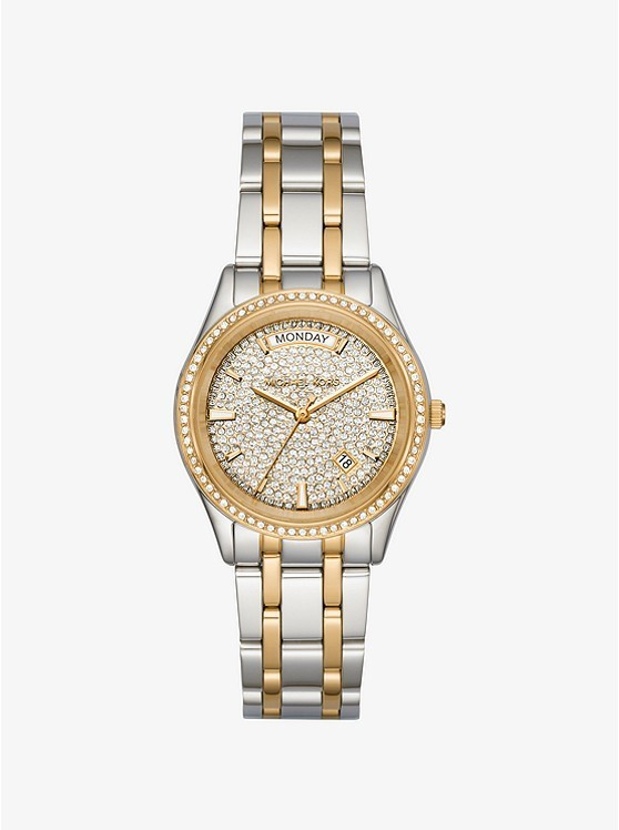 Michael Kors Kiley Pave Two-tone Watch