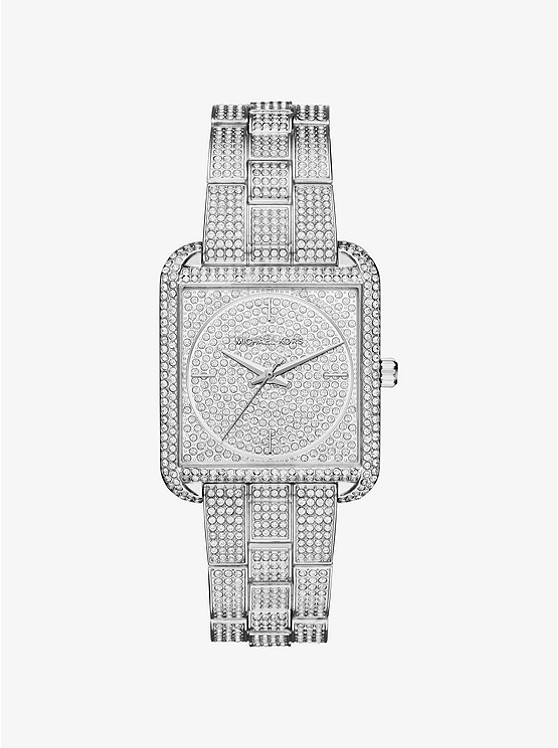 Michael Kors Lake Pave Silver-tone Watch
