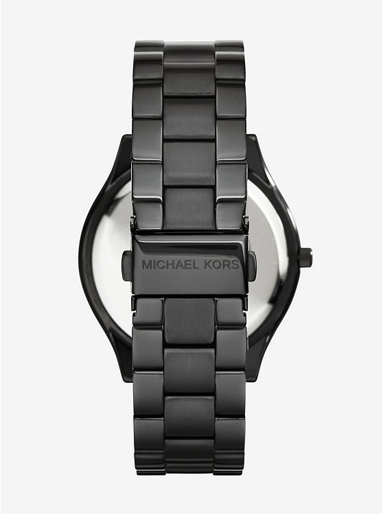 Michael Kors Slim Runway Black Stainless Steel Watch