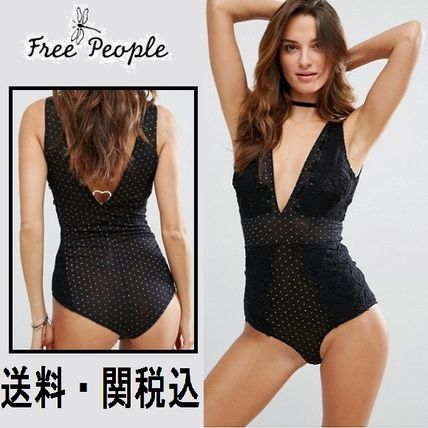 Free People Breaking ハート ボディスーツ
