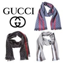 【VIP】数量限定 GUCCI GG JACQUERD WOOL SCARF WITH DETAIL