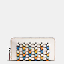 Coach ACCORDION zip wallet in coach link glovetanned leather