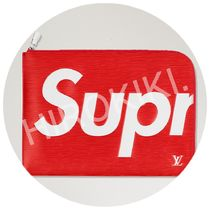 Louis Vuitton × Supreme Pochette Jour GM クラッチバッグ 赤