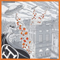 【HERMES】オレンジBOX付★45x45cm★Space Shopping au Faubourg