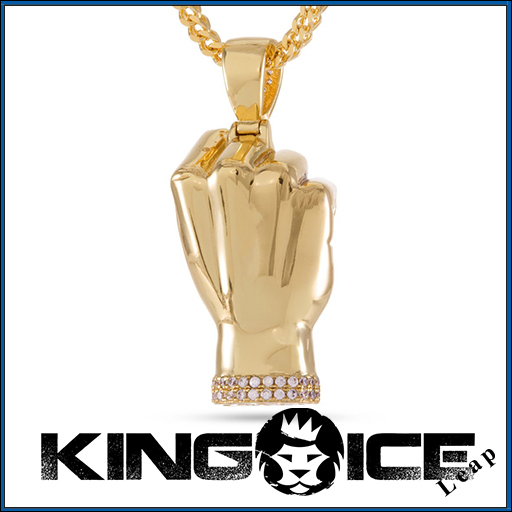 【King Ice】14Kゴールド Designed by Snoop Dogg ネックレス▲