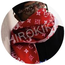 Louis Vuitton Supreme Monogram Scarf モノグラム マフラー 赤