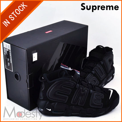 【日本国内発送】 SUPREME NIKE AIR MORE UPTEMPO BLACK 9/27cm