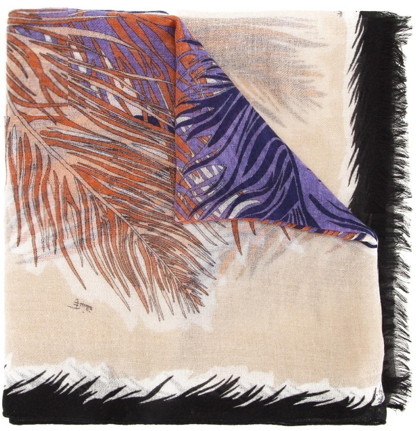 "限定SALE♪    Emilio Pucci    "" feather print scarf"""