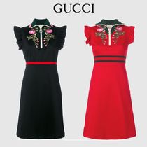 GUCCI Embroidered jersey dress 479538 X9C11 1082 【国内発】