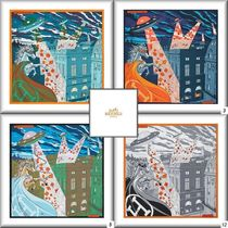 [HERMES]  ☆NEW☆ Silk 90x90Space Shopping au Faubourg4色