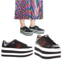 【VIP】数量限定 GUCCI PEGGY LEATHER PLATFORM SNEAKERS