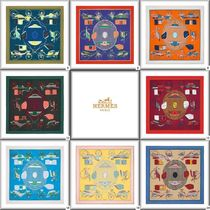 [HERMES]  Silk 90x90 Les Voitures a Transformation8色