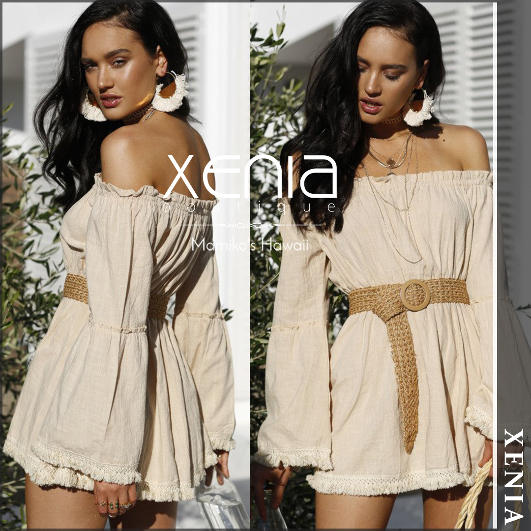 【国内発送・関税込】 XENIA boutique LEILA DRESS (BEIGE)