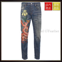 【グッチ】Jeans With Dragon Patch デニム