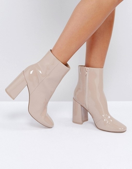 ASOS ENGAGE Patent Ankle Boots♪