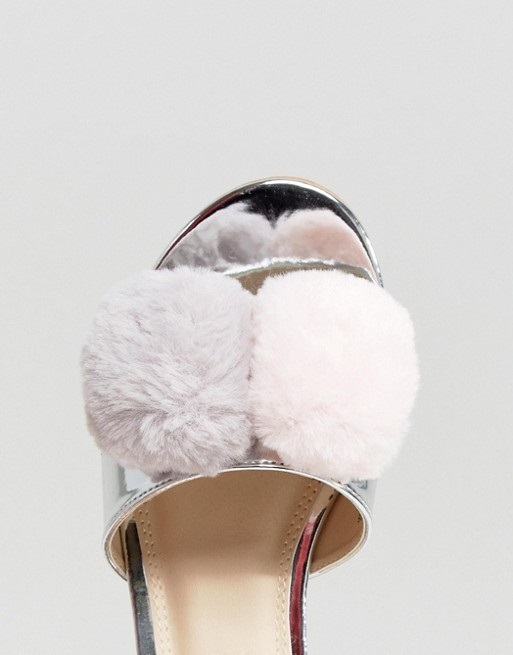 ASOS FRUITY Pom Pom Sliders♪
