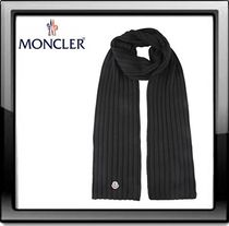MONCLER(モンクレール) ribbed scarf ☆ブラック☆ 送料込み☆