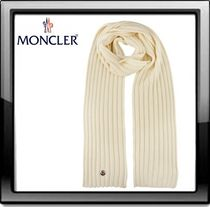 MONCLER(モンクレール) ribbed scarf ☆ホワイト☆ 送料込み☆