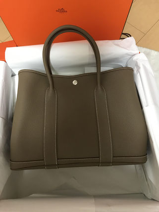 HERMES トートバッグ 国内発送品Garden Party 36(PM)貴重な★エトゥープ