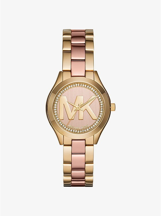 Michael Kors Mini Slim Runway Pave Two-Tone Watch