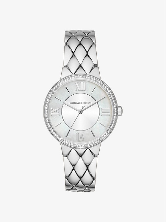 Michael Kors Courtney Pave Silver-Tone Watch