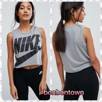 【送関込】Nike Logo Cropped Tank In Grey