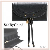 17AW新作! 関送込*See By Chloe*Classicロングウォレット☆Black