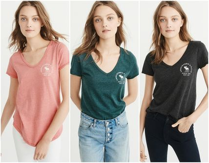 Abercrombie & Fitch Tシャツ・カットソー 【Abercrombie&Fitch】LOGO GRAPHIC TEE シンプルVネックTシャツ