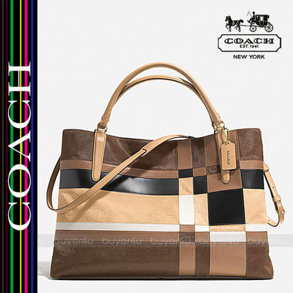 COACH★THE LARGE SOFT BOROUGH BAG PATCHWORK HAIRCALF 32361