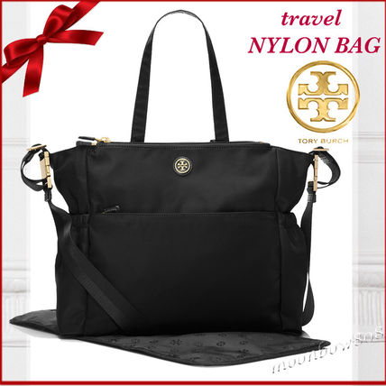 Tory Burch マザーズバッグ 破格セール★Tory Burch travel NYLON BAG Black
